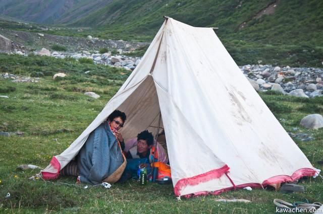 один из тентов нашего лагеря