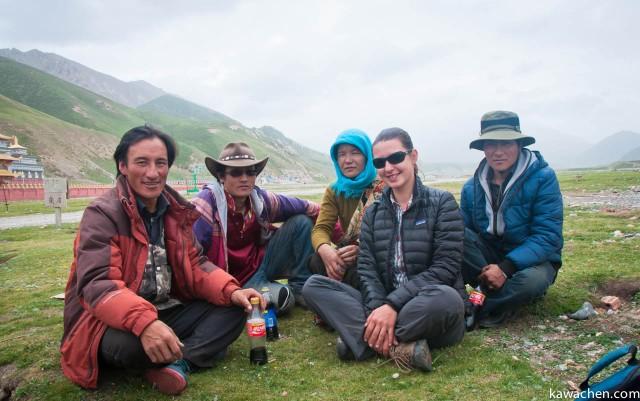 Слева направо: Нима Церинг, Ринчен, жена Нимы, Анна Ятри, Нако