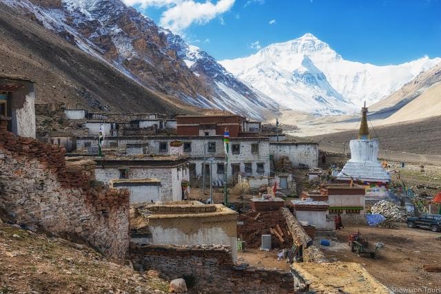 монастырь Ронгбук и базовый лагерь Эвереста